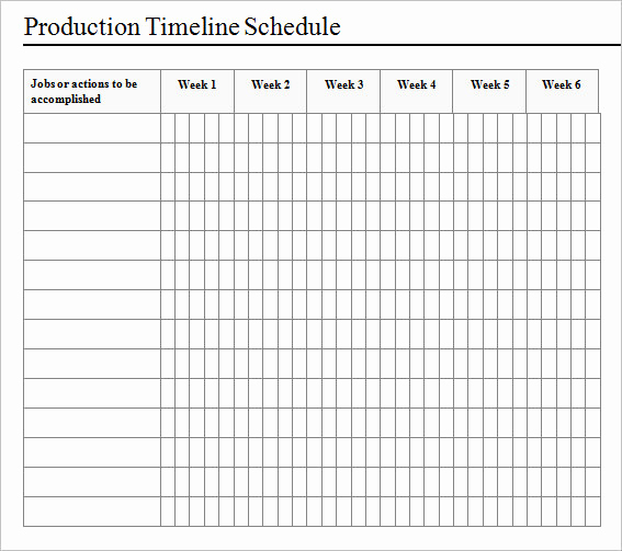 Manufacturing Production Schedule Template Best Of Sample Production Timeline 10 Examples format