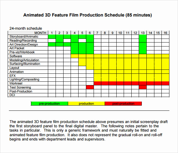Manufacturing Production Schedule Template Fresh Sample Shooting Schedule 12 Documents In Pdf Word Excel