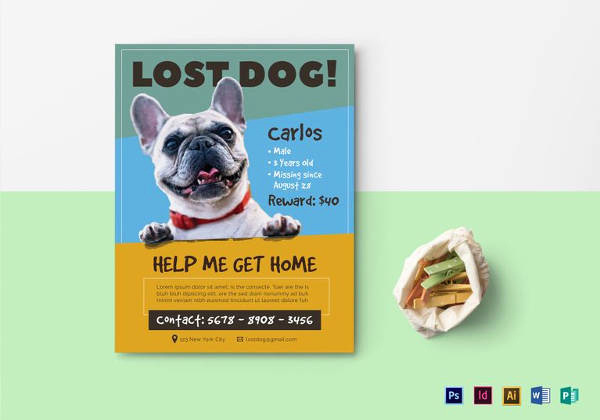 Missing Dog Flyer Template Beautiful 12 Psd Lost Dog Flyer Templates