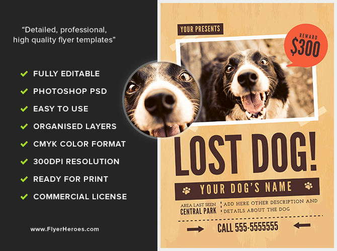 Missing Dog Flyer Template Beautiful Lost Dog Flyer Template 1 Flyerheroes