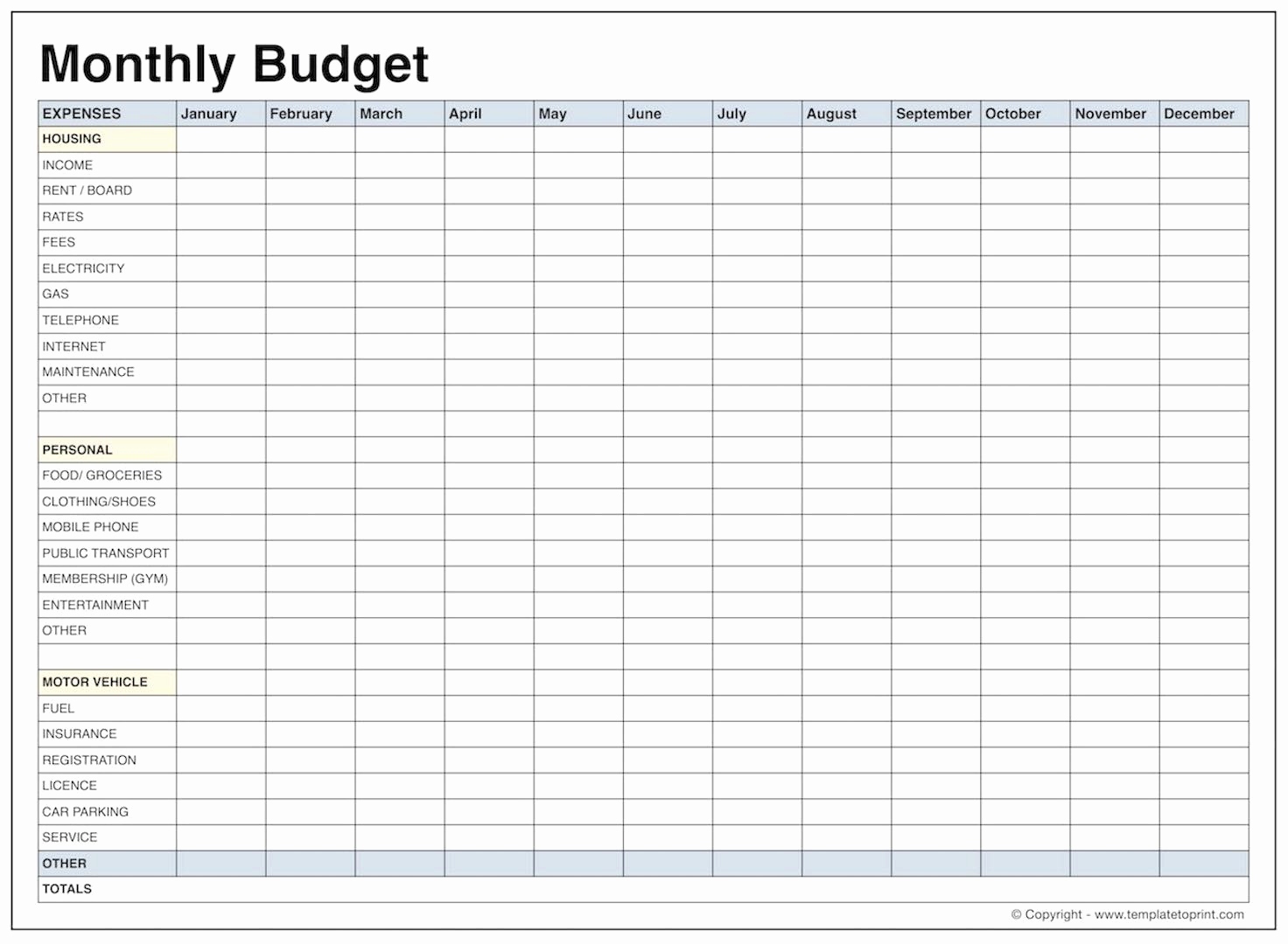 Monthly Budget Spreadsheet Template Inspirational Blank Monthly Bud Template Pdf Samplebusinessresume