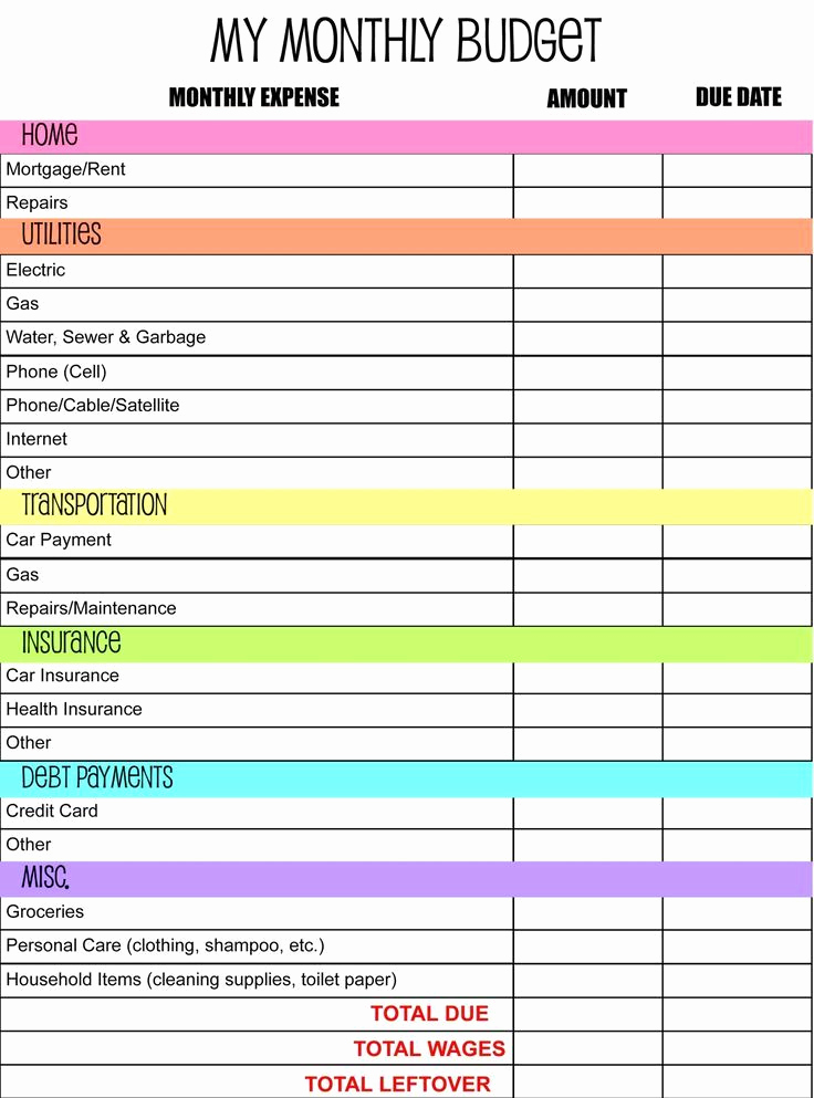 Monthly Budget Spreadsheet Template Lovely 17 Best Ideas About Monthly Bud Template On Pinterest