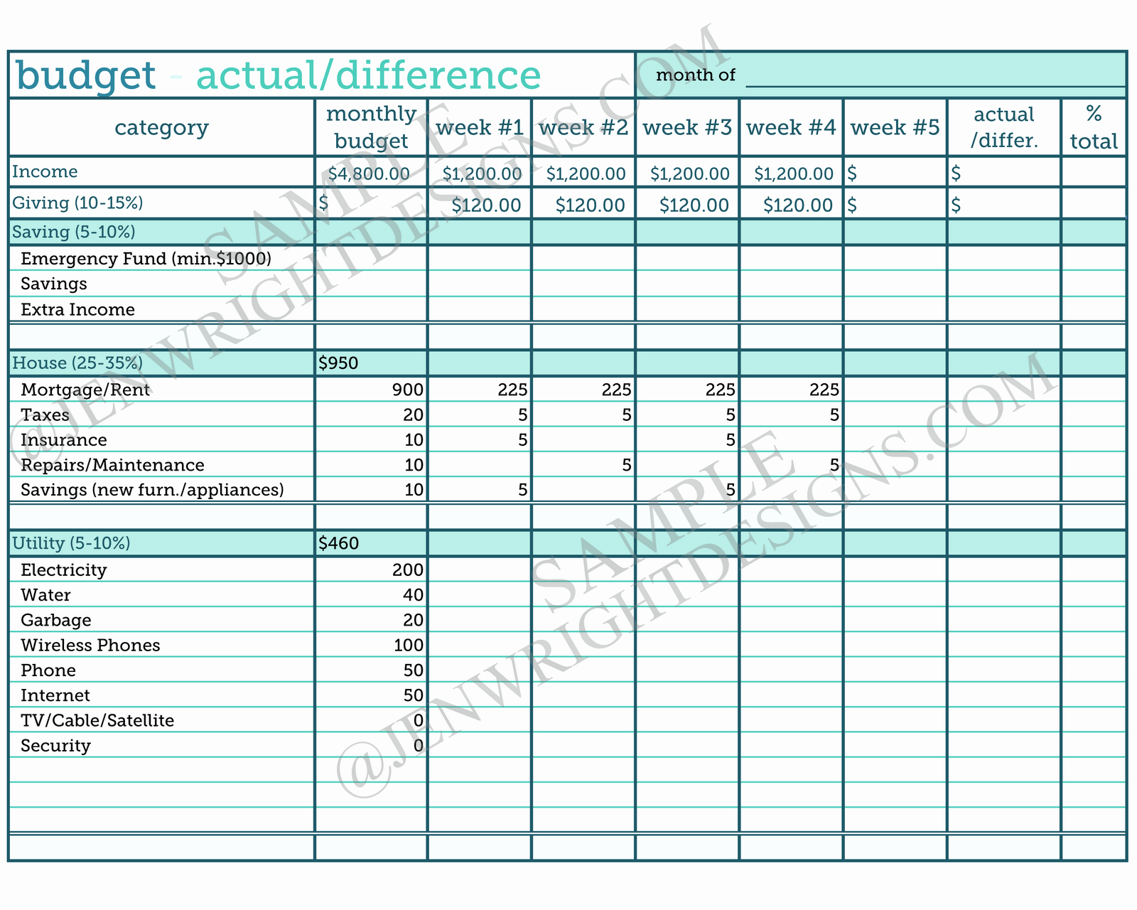 Monthly Budget Spreadsheet Template New Bi Monthly Bud Worksheet Template 6 Best Images Of