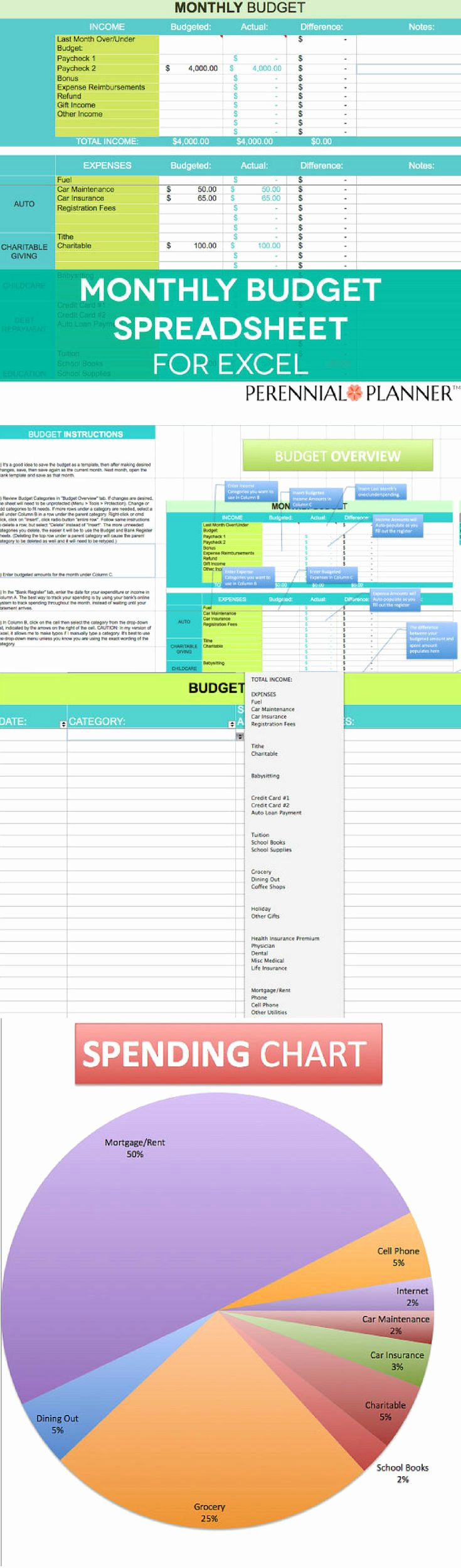 Monthly Budget Spreadsheet Template Unique Best 25 Monthly Bud Planner Ideas On Pinterest