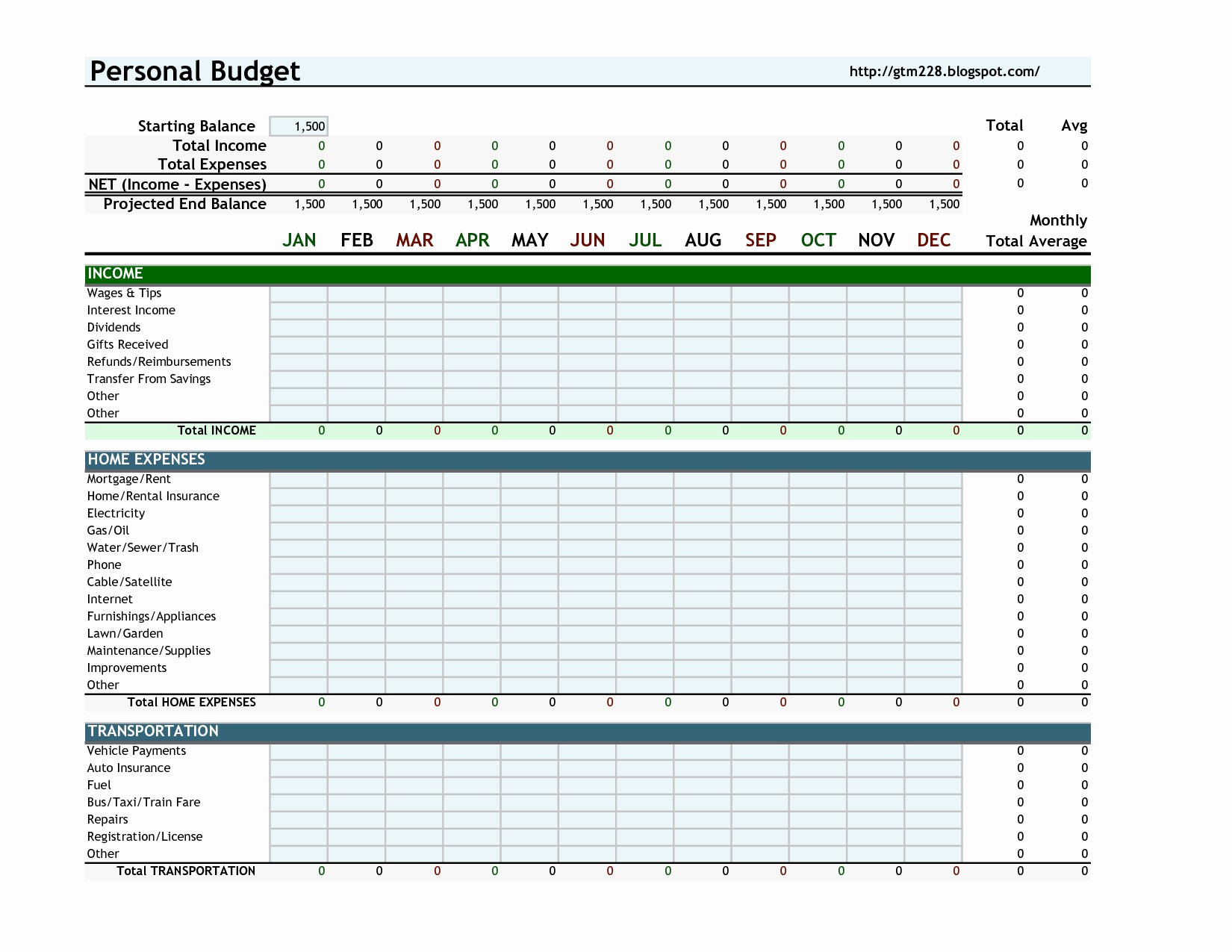 Monthly Budget Spreadsheet Template Unique Personal Bud Sheet Template
