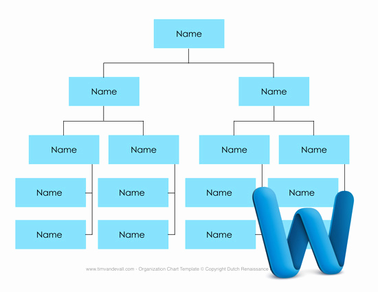 Ms Word org Chart Templates Elegant Free Business organizational Chart Templates for Word and
