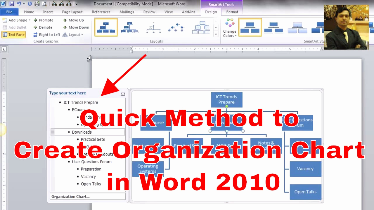 Ms Word org Chart Templates Elegant How to Make An organizational Chart Creating
