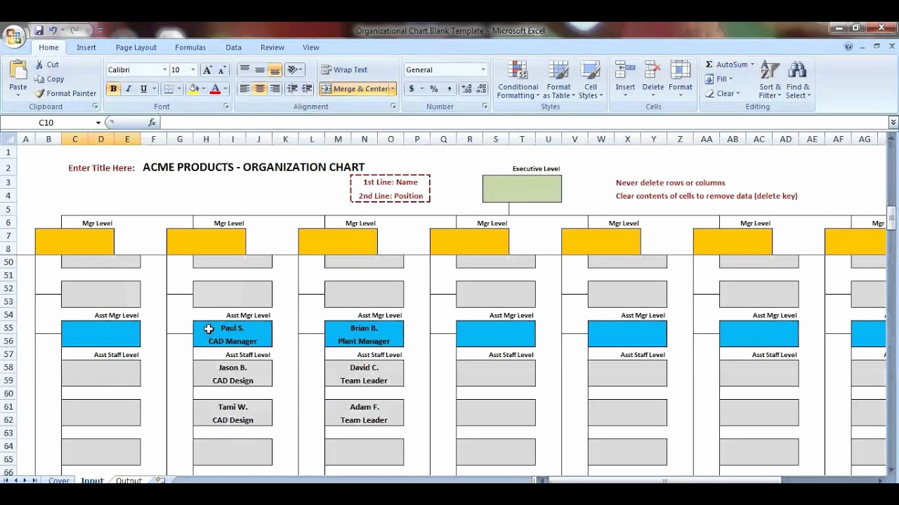 Ms Word org Chart Templates Lovely Excel organization Chart Template Demonstration