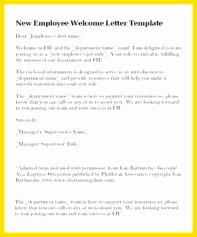 New Hire Packet Template Fresh Wel E Email Template for New Employee Hire Packet Sample