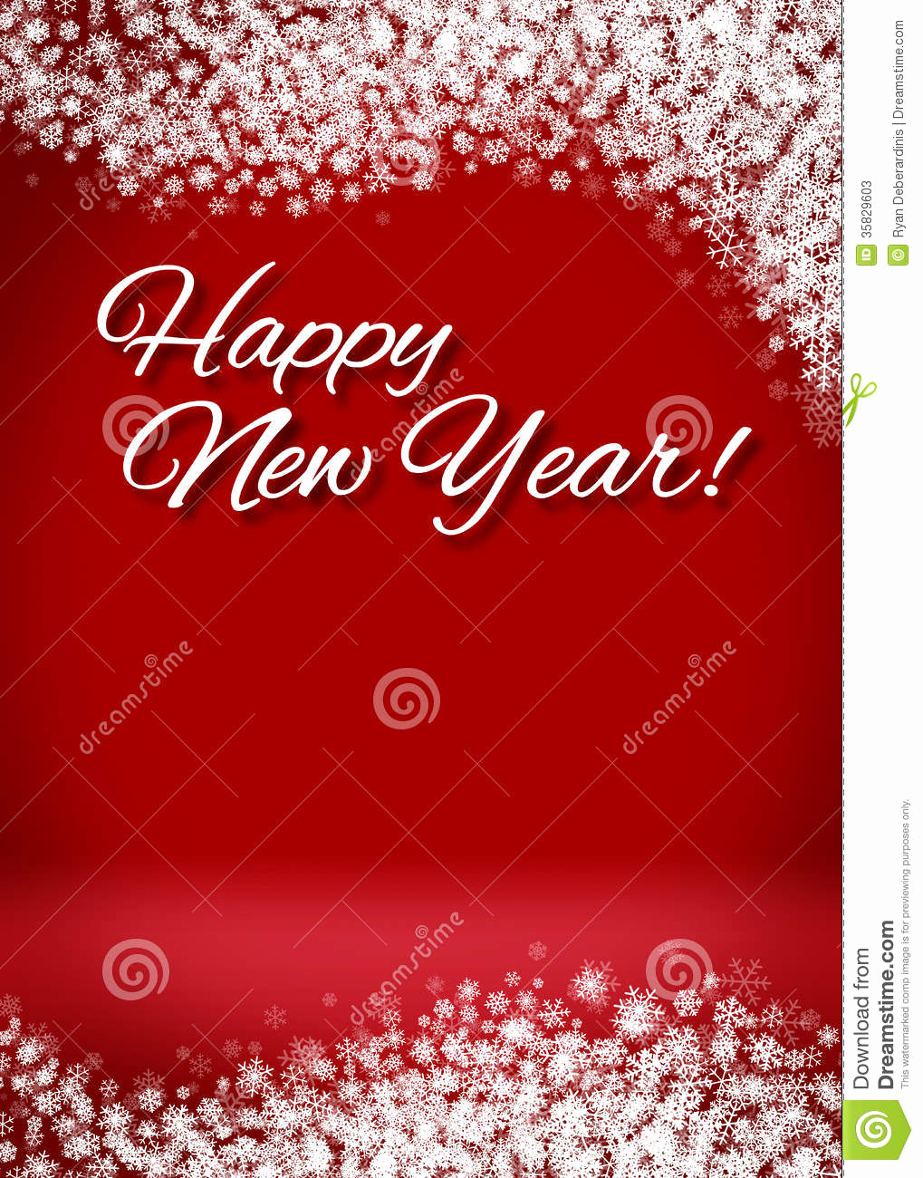 New Year Card Template Awesome Snowy Happy New Year 3d Card Background Stock S