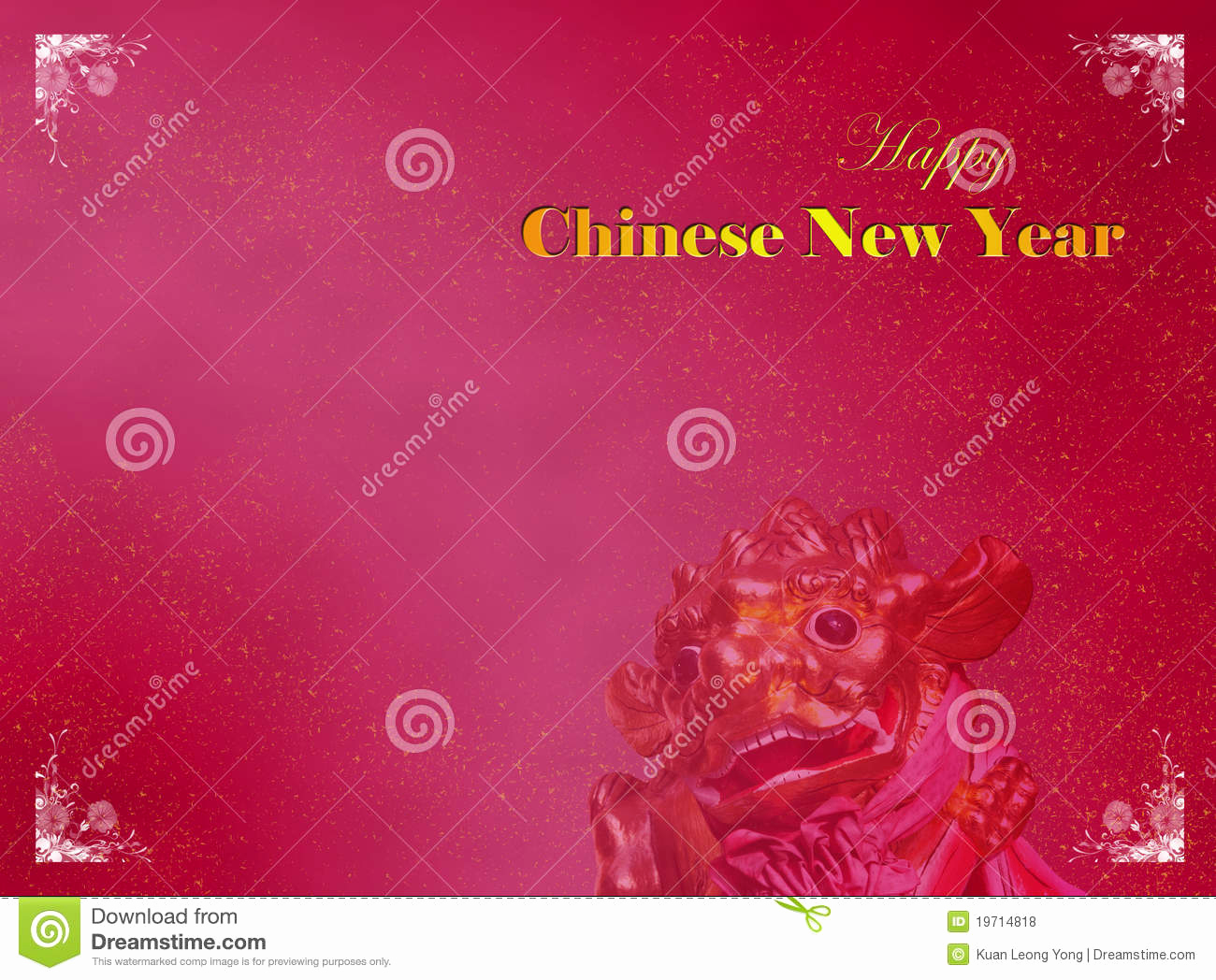 New Year Card Template Beautiful Chinese New Year Card Template Royalty Free Stock S