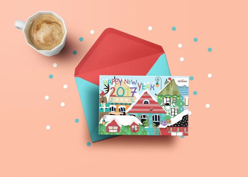 New Year Card Template Elegant 19 Happy New Year Cards 2017