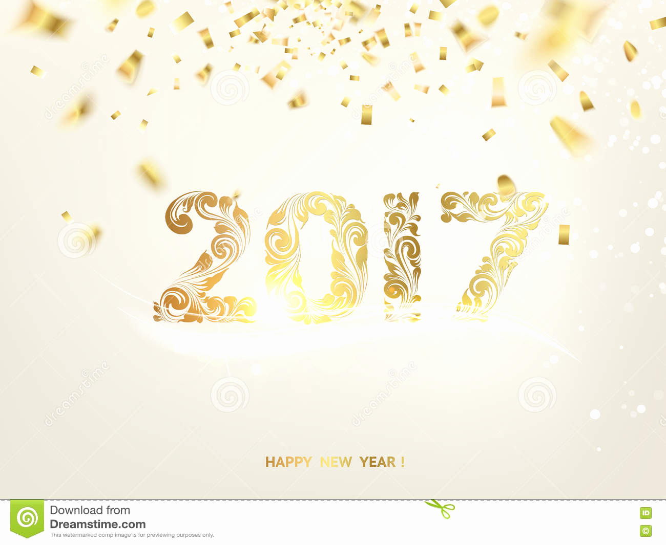 New Year Card Template Elegant Happy New Year 2017 Stock Vector Image Of Glowing