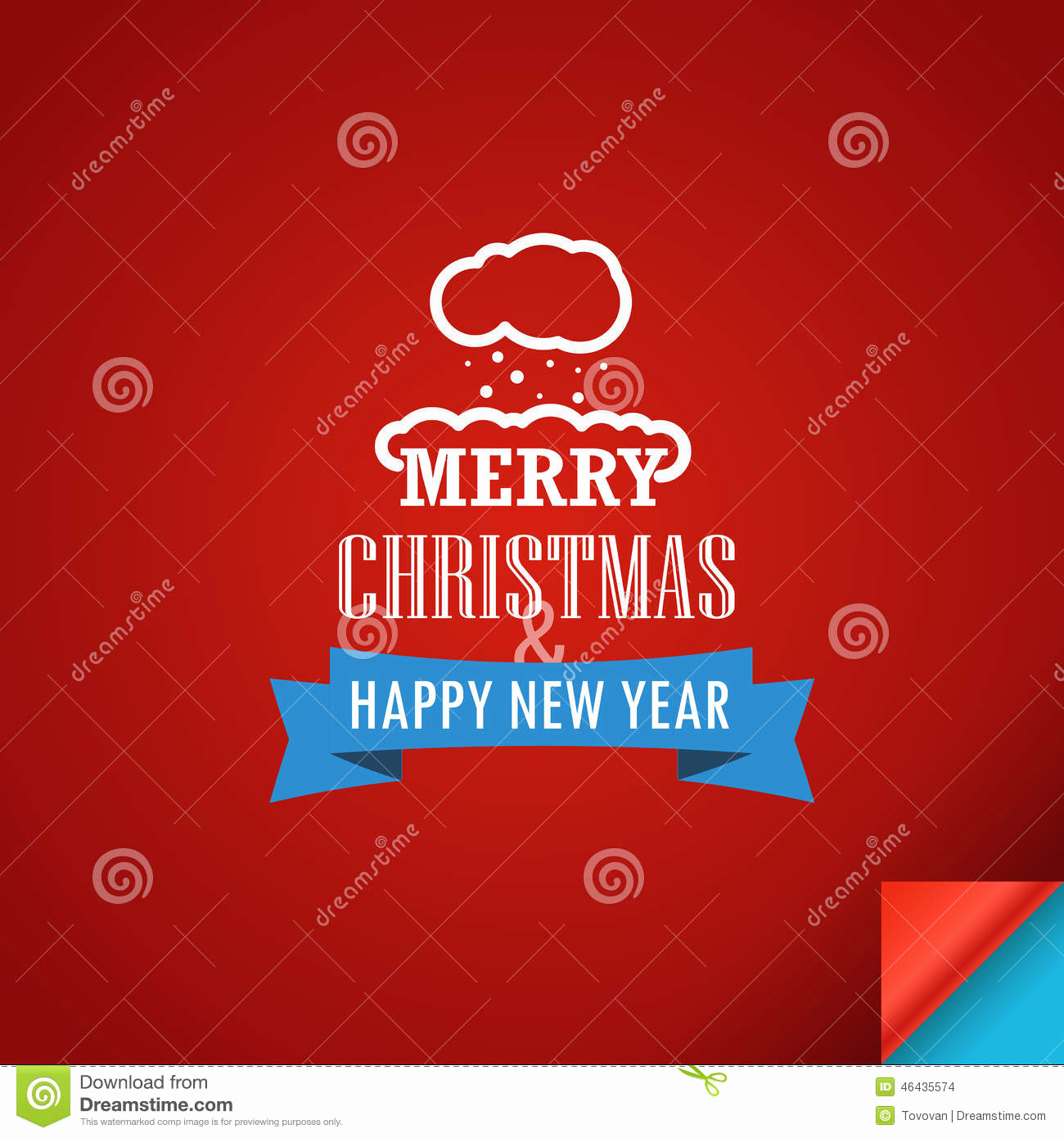 New Year Card Template Elegant Merry Christmas and A Happy New Year Greeting Card Stock