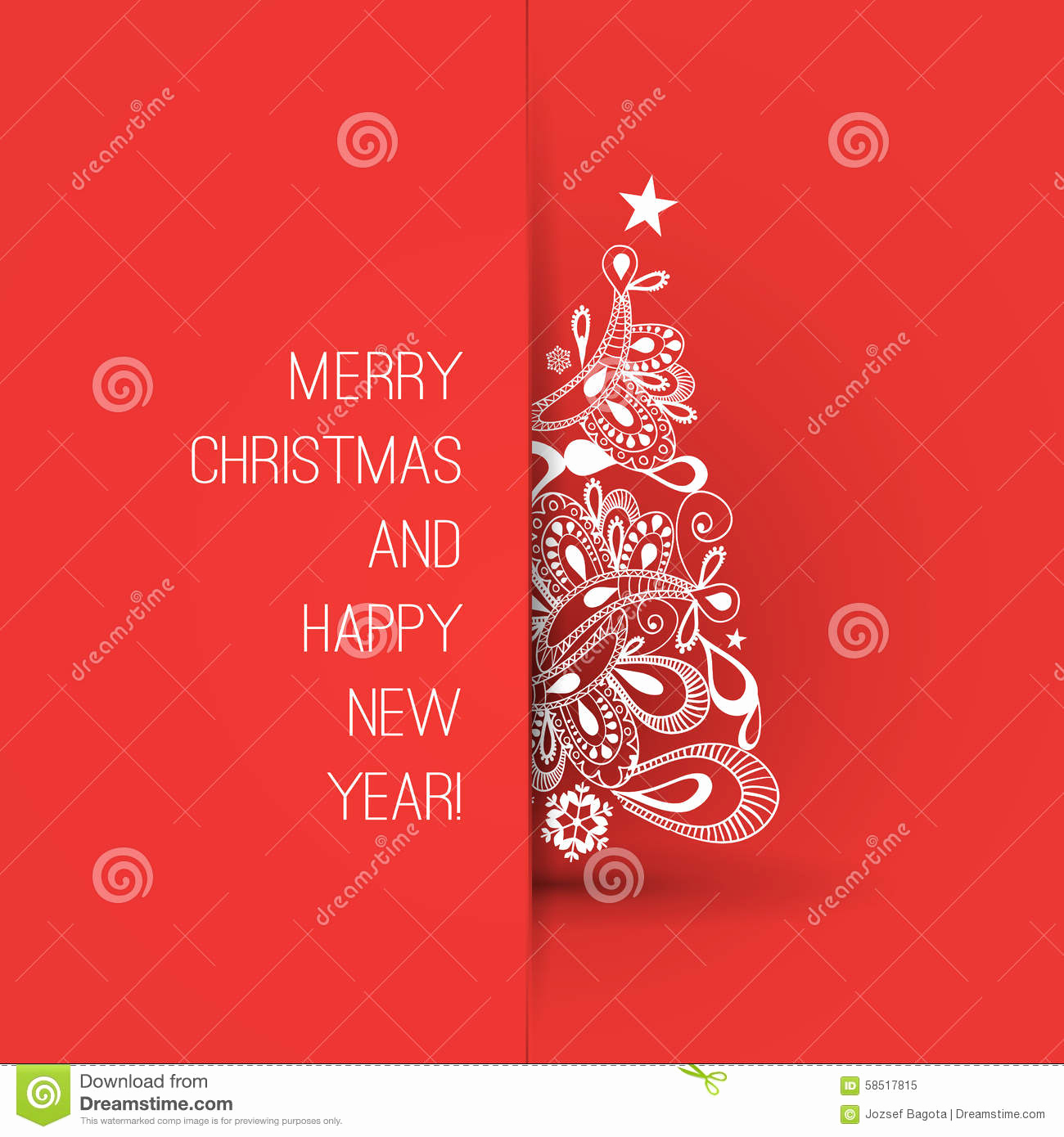 New Year Card Template Fresh Merry Christmas and Happy New Year Greeting Card Creative