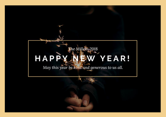 New Year Card Template Luxury Customize 917 New Year Card Templates Online Canva