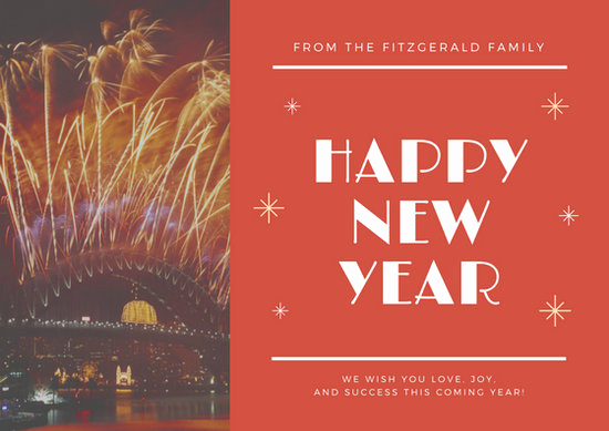 New Year Card Template New Customize 917 New Year Card Templates Online Canva