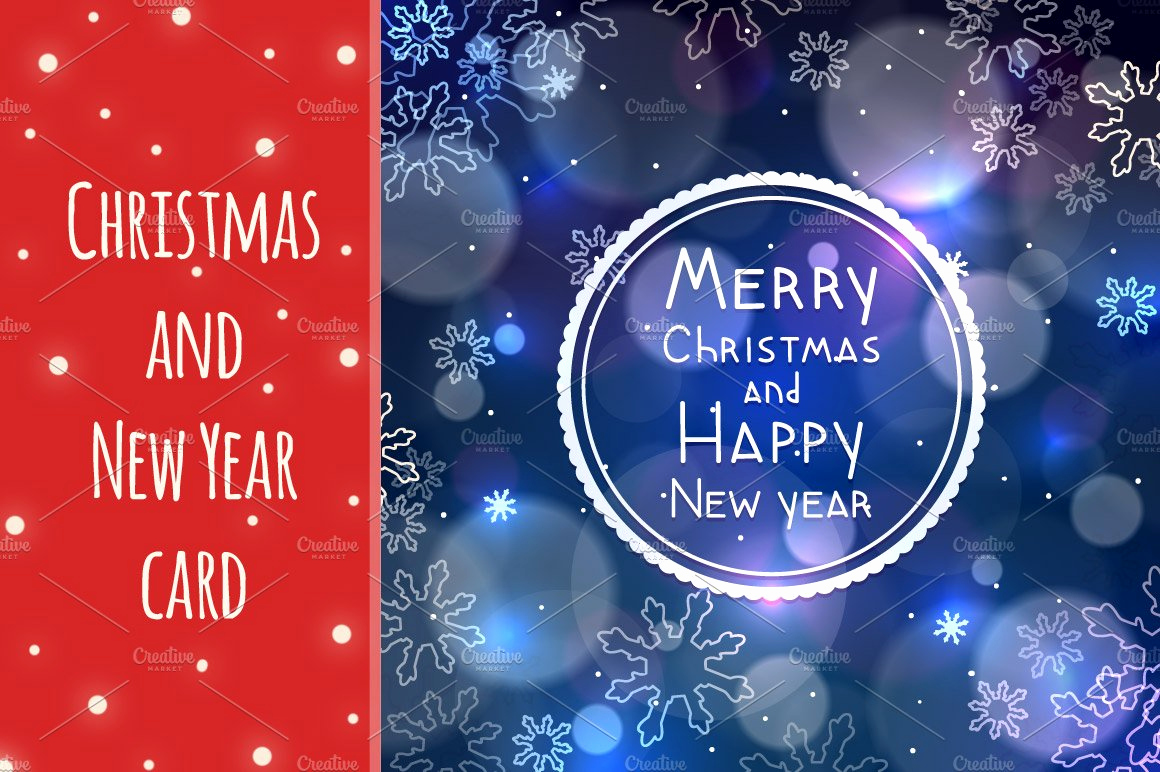 New Year Card Template Unique Christmas and New Year Greeting Card Card Templates