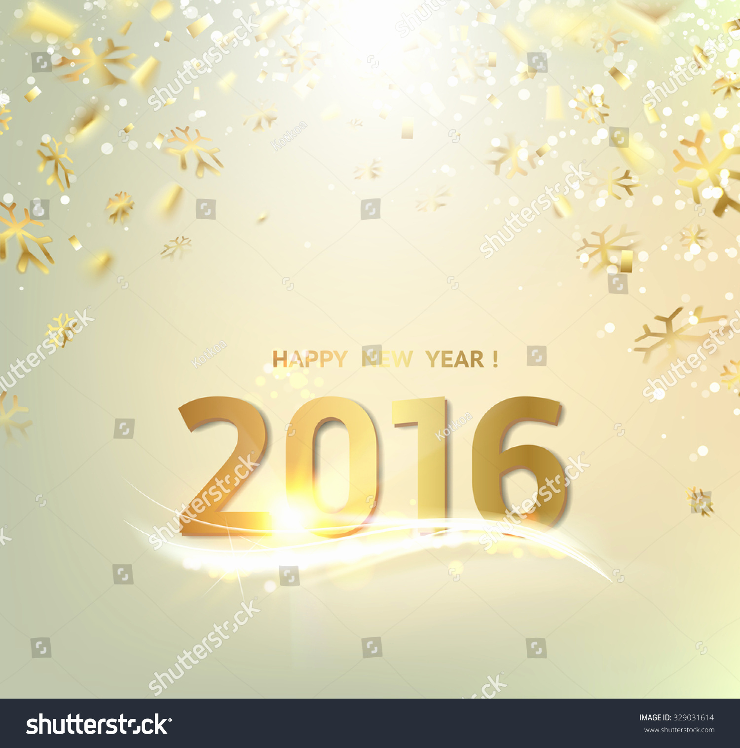 New Year Card Template Unique Happy New Year Card Gold Template Stock Vector