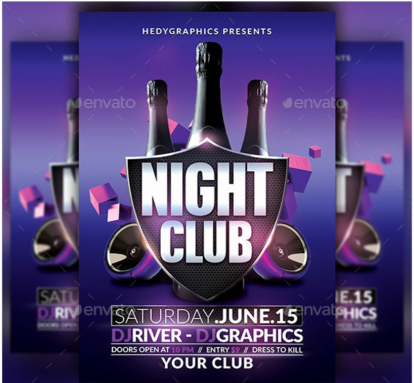 Night Club Flyer Templates Awesome 27 Club Flyer Templates Pdf Psd Ai Vector Eps