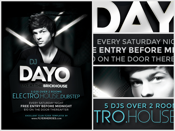 Night Club Flyer Templates Awesome Dayo Dj Flyer Template Flyerheroes