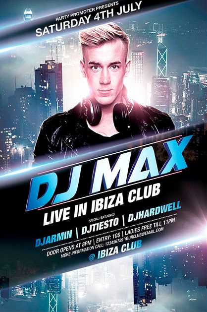 Night Club Flyer Templates Awesome Free Dj Party Flyer Template