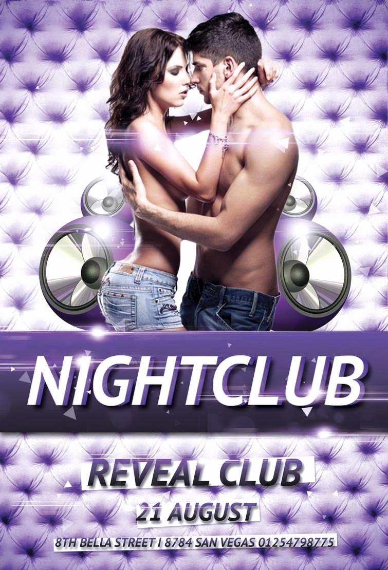 Night Club Flyer Templates Awesome Free Nightclub Party Psd Flyer Template Download