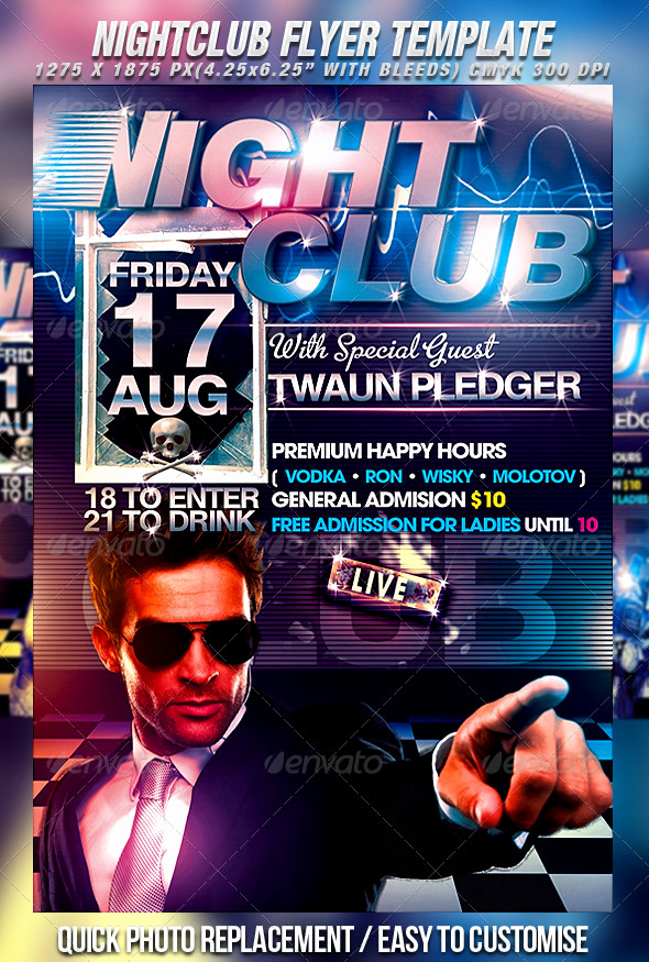 Night Club Flyer Templates Beautiful 20 Nice Nightclub Flyers Templates