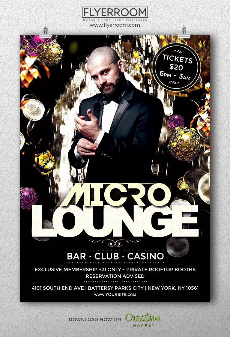 Night Club Flyer Templates Beautiful Micro Lounge Club Flyer Templ Download Music Club Flyer