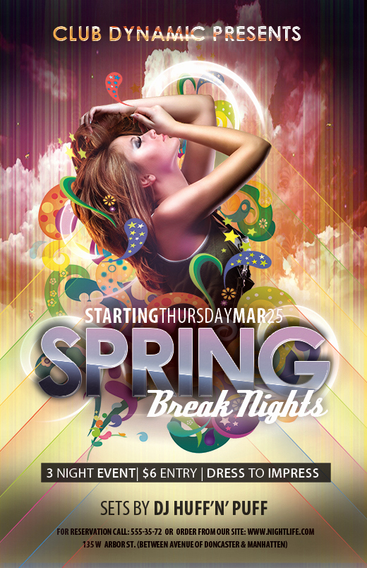 Night Club Flyer Templates Best Of Free Club Flyer Templates for Spring Break Shop Psd