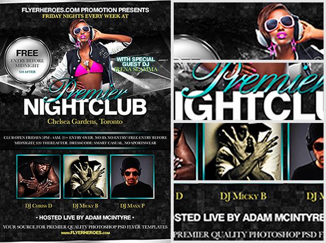 Night Club Flyer Templates Best Of Premier Nightclub Free Flyer Template Flyerheroes