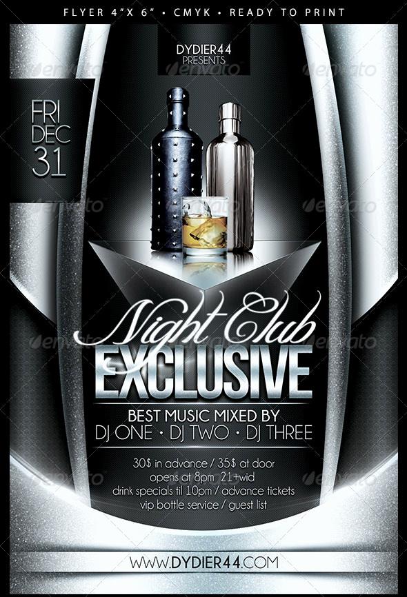 Night Club Flyer Templates Elegant 31 Fabulous Night Club Flyer Templates & Psd Designs