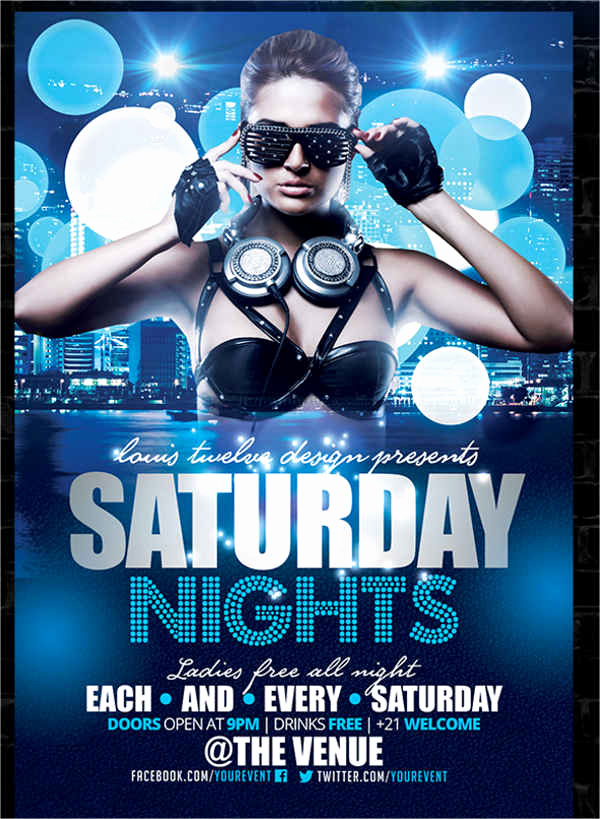 Night Club Flyer Templates Lovely 10 Nightclub Party Flyers Design Templates