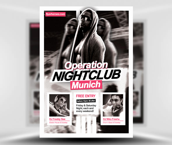 Night Club Flyer Templates Lovely 31 Fabulous Night Club Flyer Templates & Psd Designs