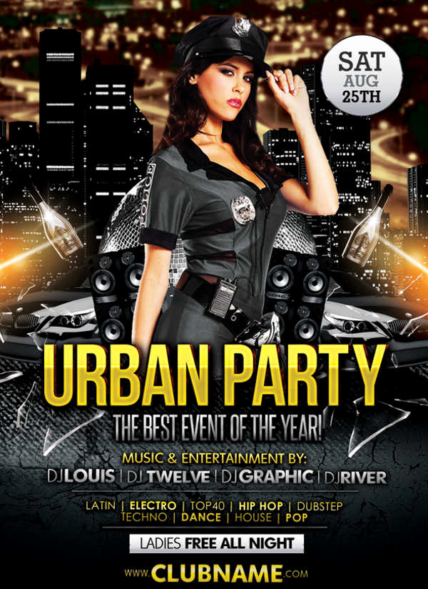 Night Club Flyer Templates Lovely 9 Club Party Flyers Free Psd Eps Vector Ai format