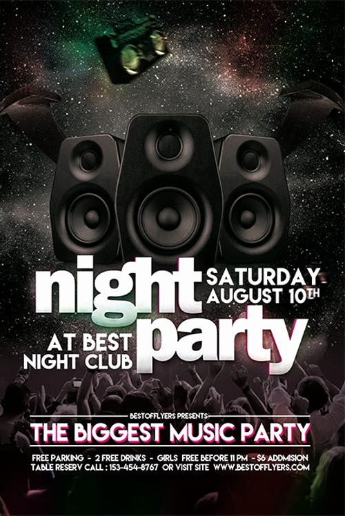 Night Club Flyer Templates Lovely Party Night Free Club Flyer Template for Club and Party