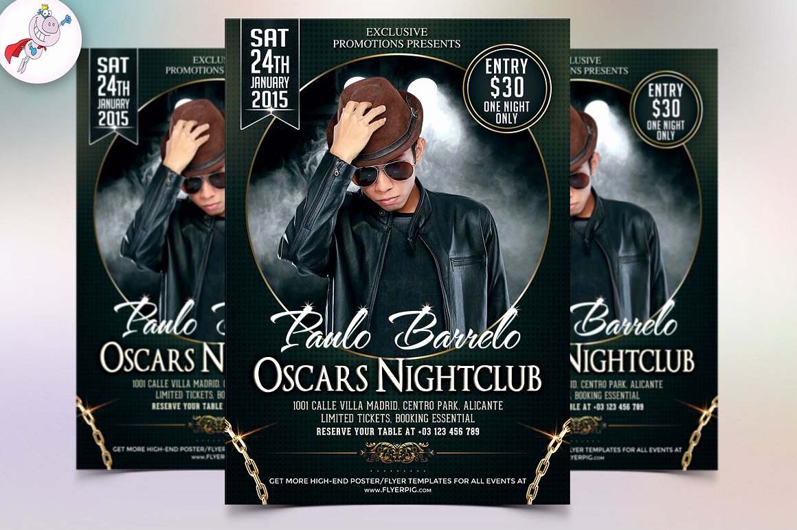 Night Club Flyer Templates Luxury Club Flyer Template Flyer Templates Creative Market