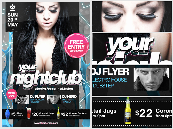 Night Club Flyer Templates Luxury Free Nightclub Flyer Template Flyerheroes
