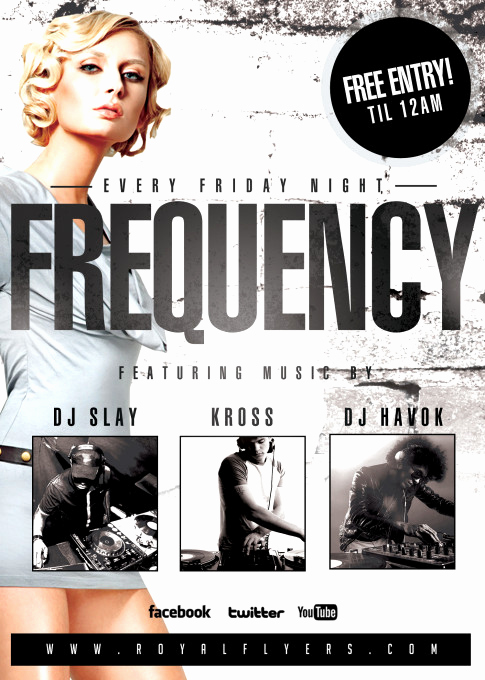 Night Club Flyer Templates Luxury Frequency Fridays Club Flyer Psd Template