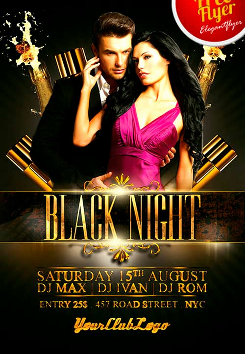 Night Club Flyer Templates New Download Free Black Night Club Psd Flyer Template