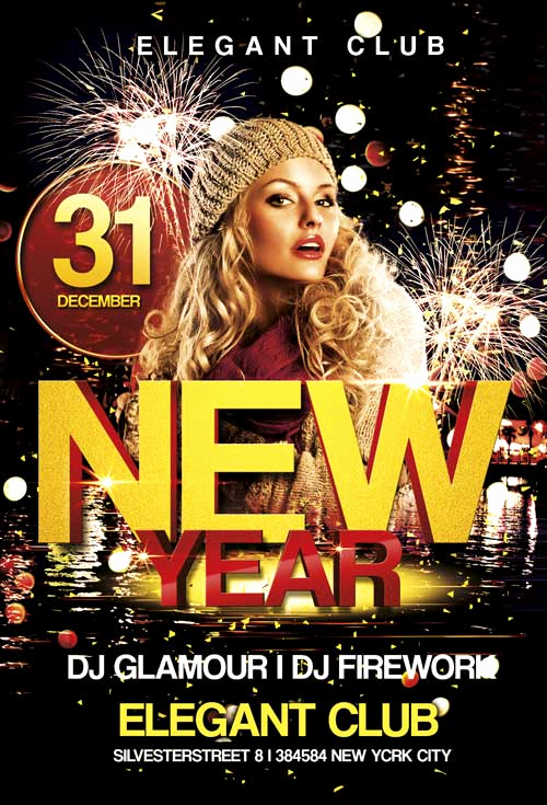 Night Club Flyer Templates New Free New Year Club Flyer Template