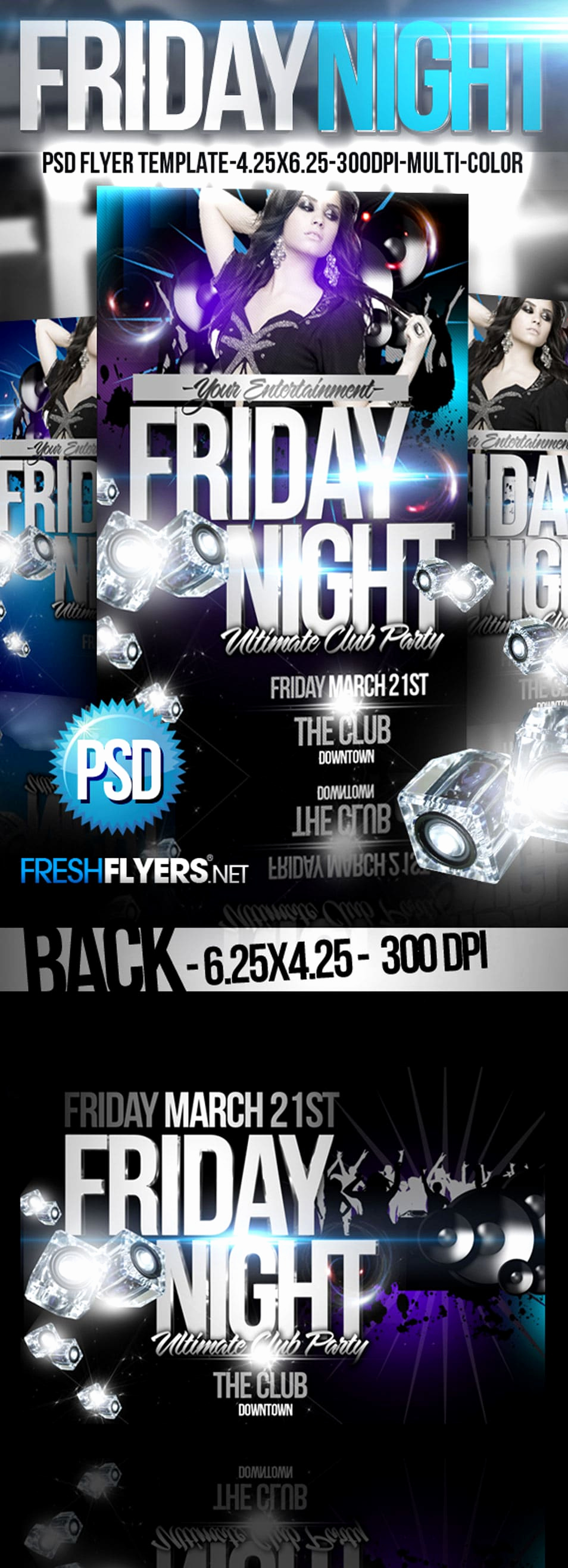 Night Club Flyer Templates Unique 60 Best Free Flyer Templates Psd