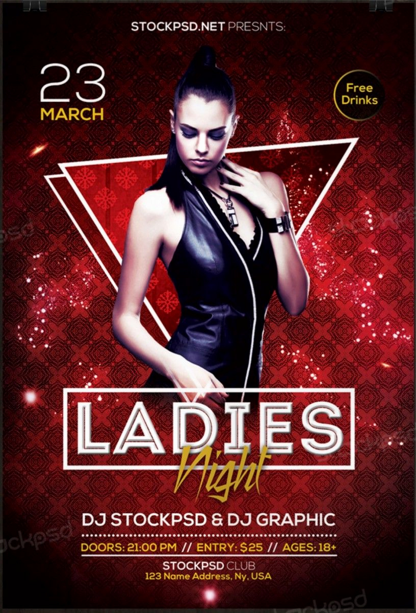 Night Club Flyer Templates Unique La S Night 2017 – Download Free Psd Flyer Template