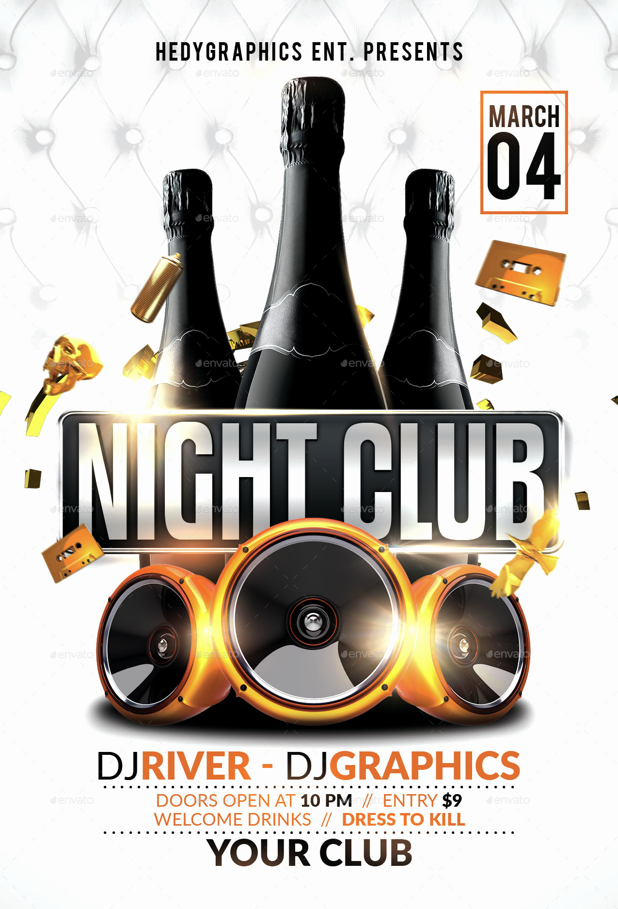 Night Club Flyer Templates Unique Night Club Flyer Template by Hedygraphics