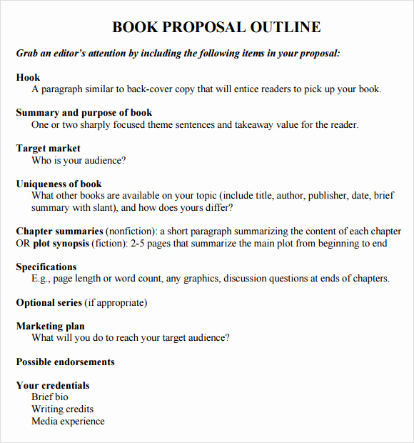 Nonfiction Book Proposal Template Awesome 8 Useful Book Outline Templates to Download