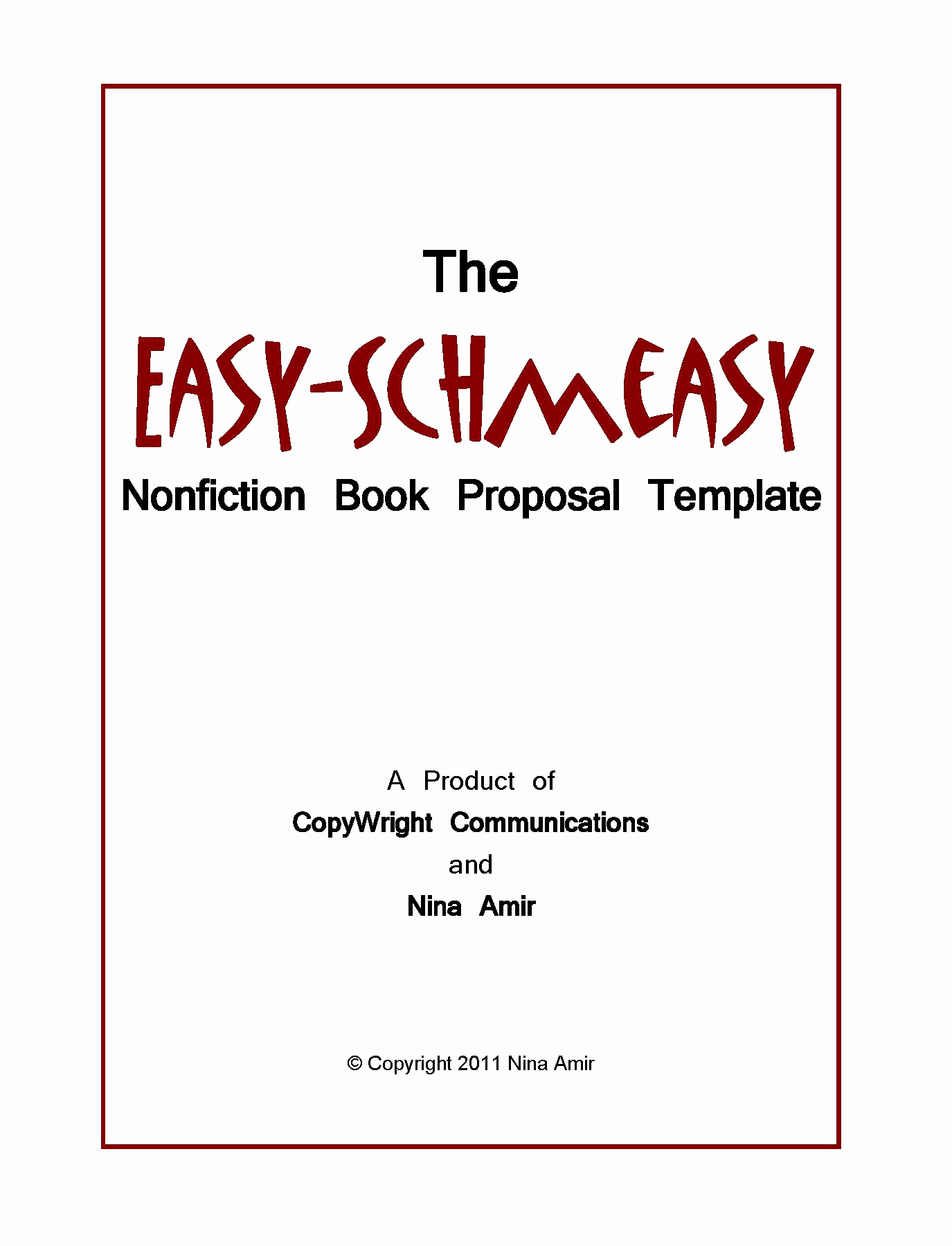 Nonfiction Book Proposal Template Awesome Nonfiction Book Proposal Template Best Fiction Book