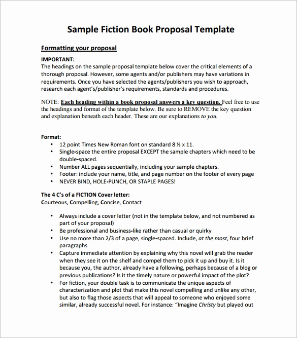 Nonfiction Book Proposal Template Best Of Book Proposal Template 16 Free Sample Example format