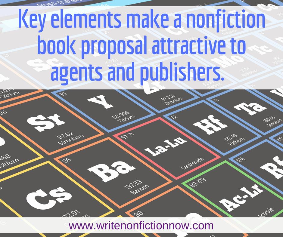 Nonfiction Book Proposal Template Elegant the Periodic Elements Of the Nonfiction Book Proposal