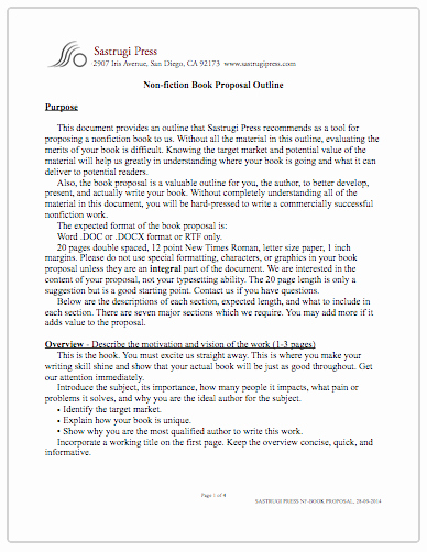 Nonfiction Book Proposal Template Fresh Book Proposal Submissions Sastrugi Press Llc