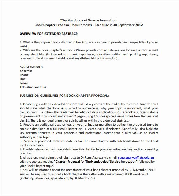 Nonfiction Book Proposal Template Fresh Book Proposal Template 16 Free Sample Example format